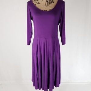 Calvin Klein | Long-sleeve Fit & Flare Dress (10)